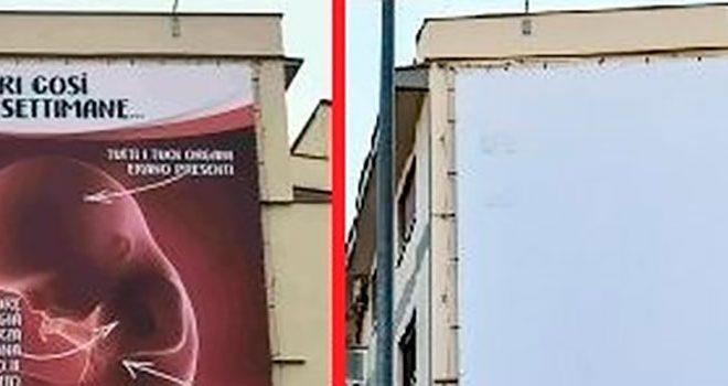 è stato rimoso il cartellone Provita silvanademaricommunity